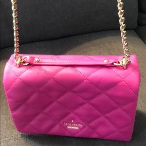 kate spade Bags - Kate Spade fuchsia quilted bag, barely used